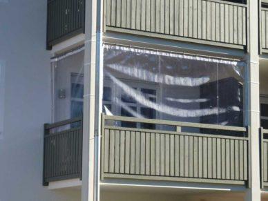 Balkon-Windschutz
