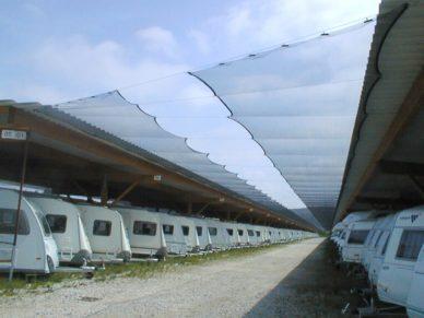 Hagelschutznetz-Wohnwagen