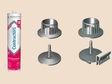 Klebeelemente und Aufschlagelemente für T-Sprossen und Silikonkleber